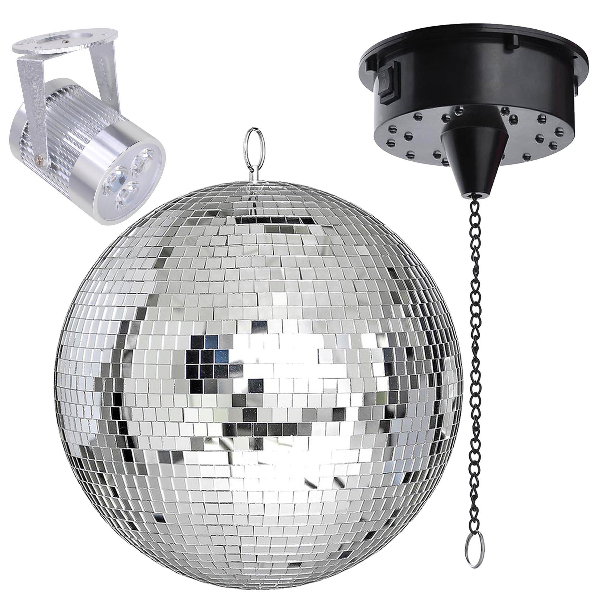 Mirror Disco Ball Dj Stage Party Motor Rgb Led Light Kit Rotating with Disco Ball Ceiling Lights Fixtures (Image 14 of 15)
