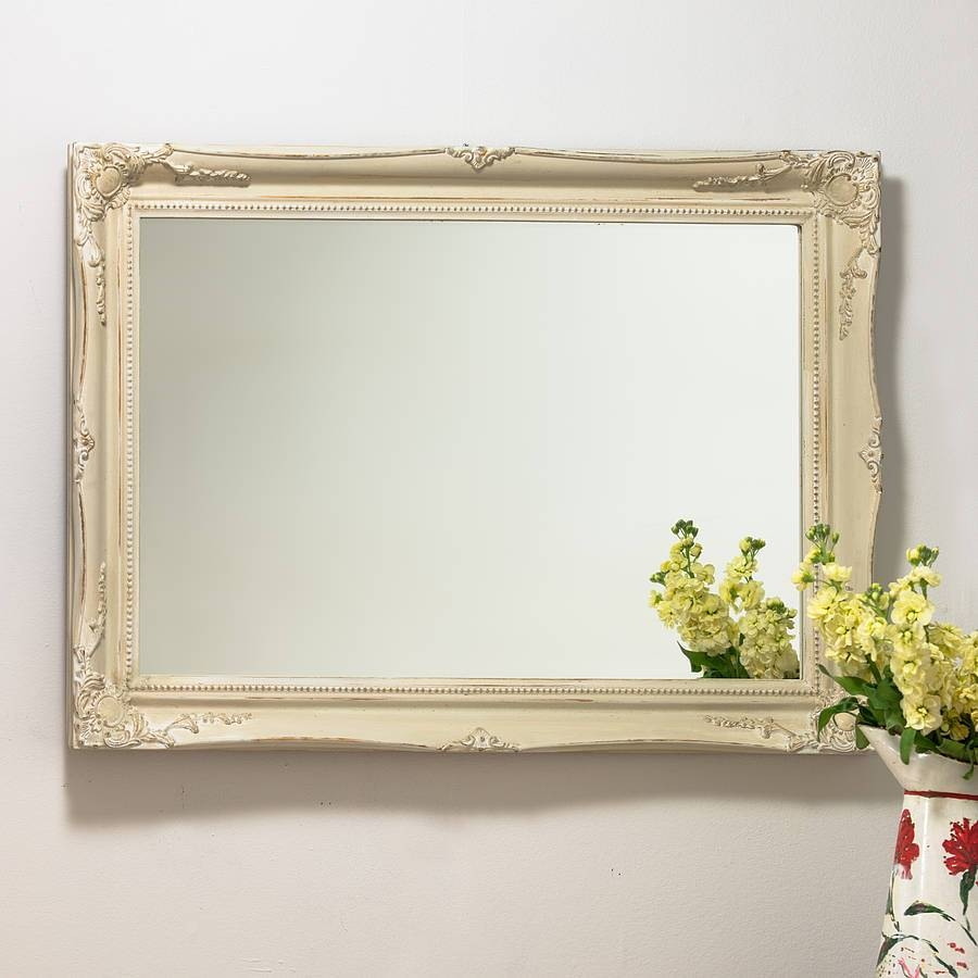 Mirror Expertly Hand Painted In Your Colour Choicehand Crafted within Cream Mirrors (Image 11 of 15)