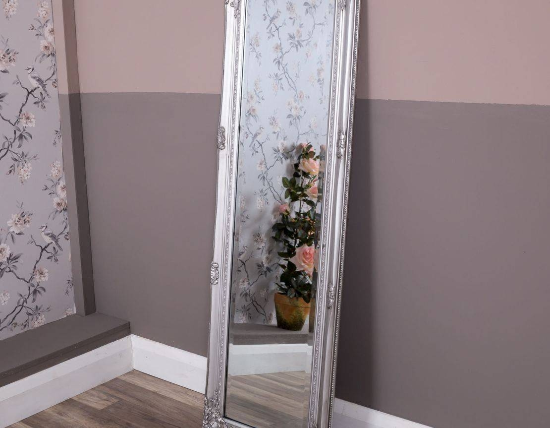 Mirror : Flooring Floor Length Mirrors Incredible Images Design in Shabby Chic Free Standing Mirrors (Image 11 of 15)