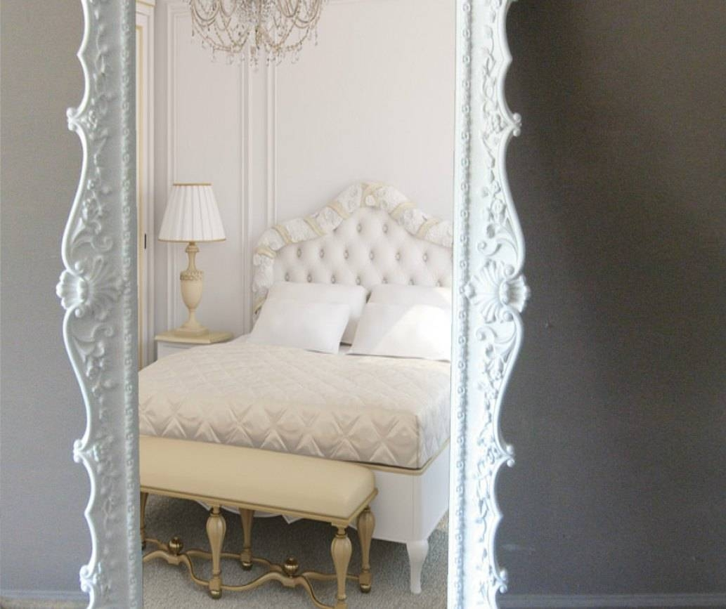 Mirror : Huge French Rococo Style Wall Or Floor Mirror From Intended For Rococo Floor Mirrors (View 7 of 15)