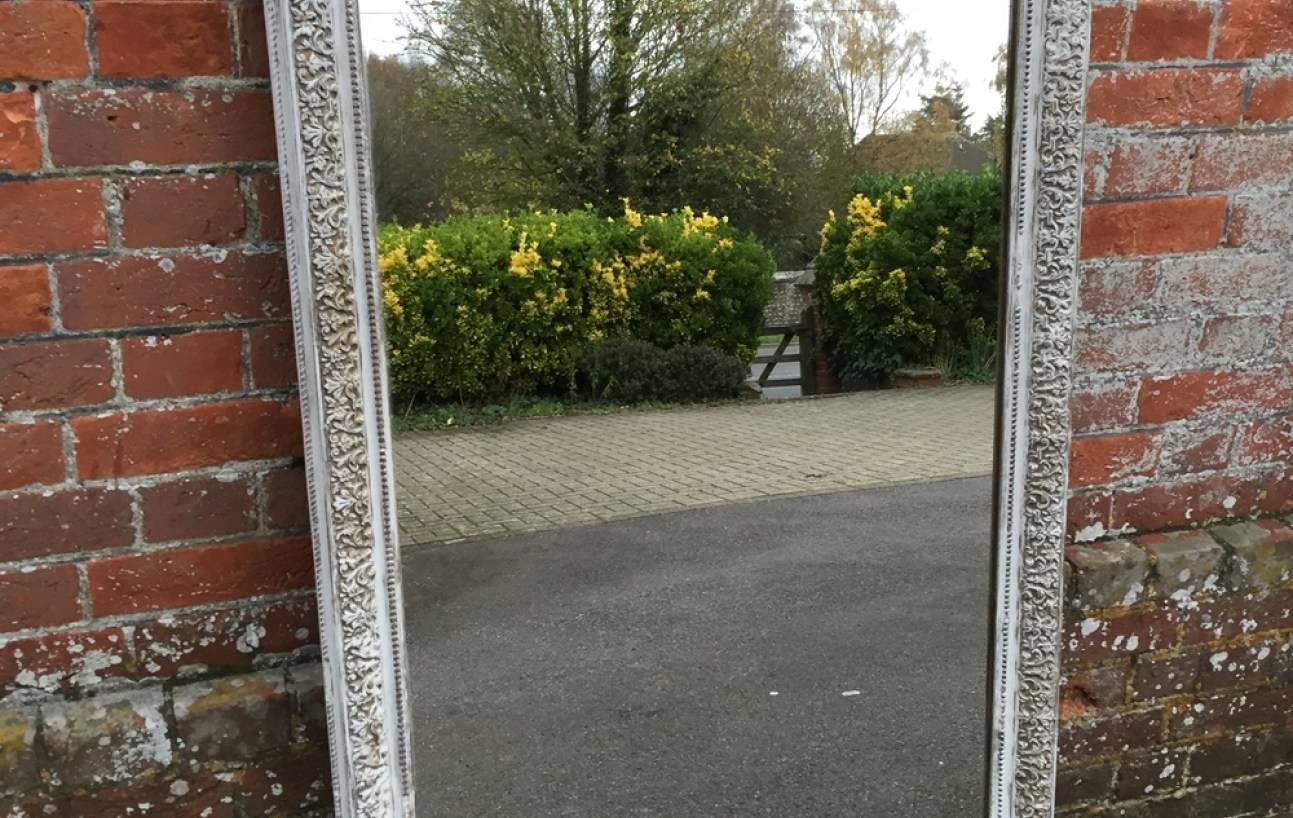 Mirror : Large Antique Wall Mirror Ornate Frame Antique Ornate regarding Large Gilt Framed Mirrors (Image 9 of 15)