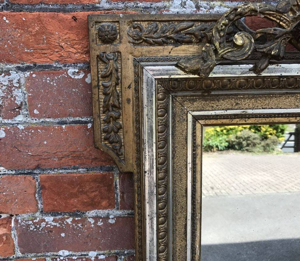 Mirror : Large Antique Wall Mirror Ornate Frame Antique Ornate regarding Large Gilt Framed Mirrors (Image 8 of 15)