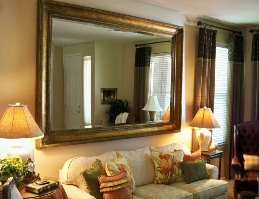 Mirror : Large Wall Mirror With Frame 9 Awesome Exterior With with regard to Large Brown Mirrors (Image 11 of 15)