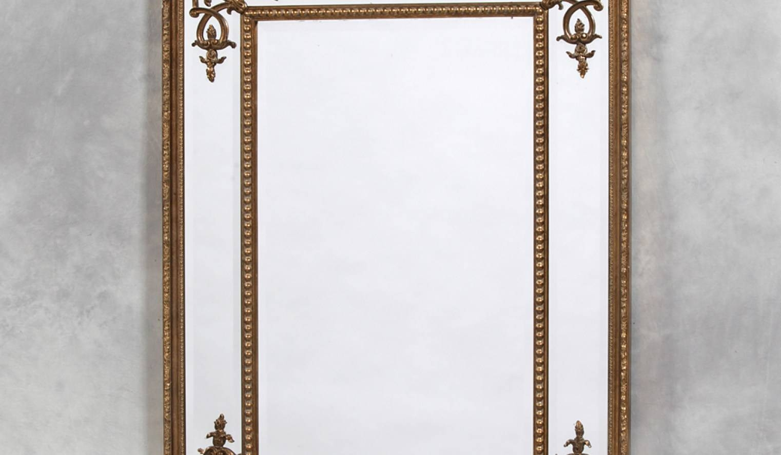 Mirror : Northumbria Mirrors Arched Mirrors Throughout Gold French inside Gold French Mirrors (Image 13 of 15)