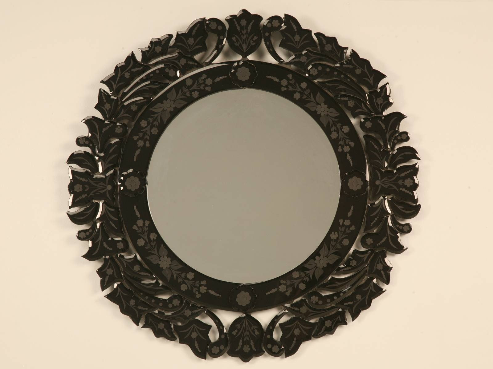 Mirror Scrying inside Black Venetian Mirrors (Image 10 of 15)