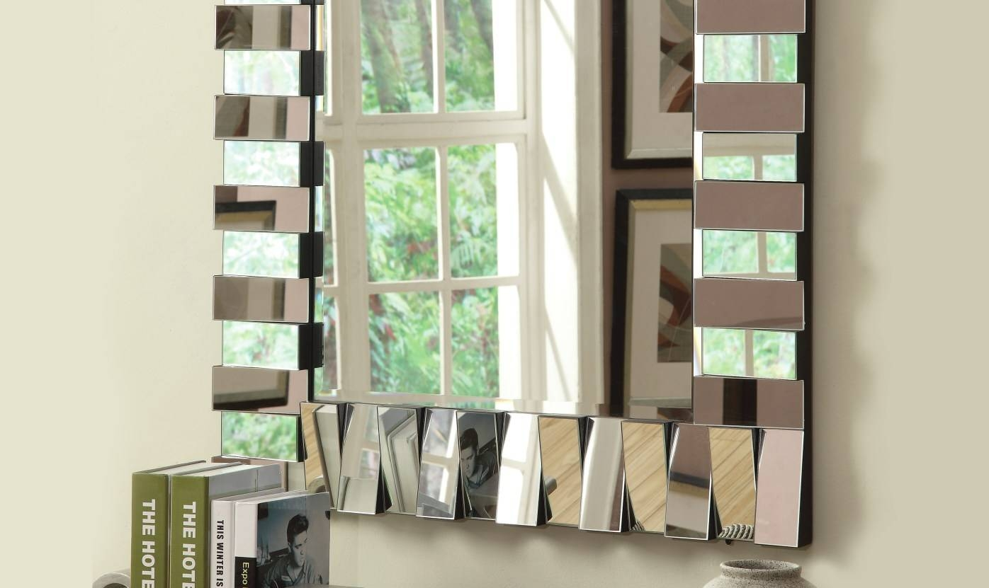 Mirror : Wall Design With Mirrors 2 Stunning Decor With Best Ideas Regarding Cheap Contemporary Mirrors (View 15 of 15)