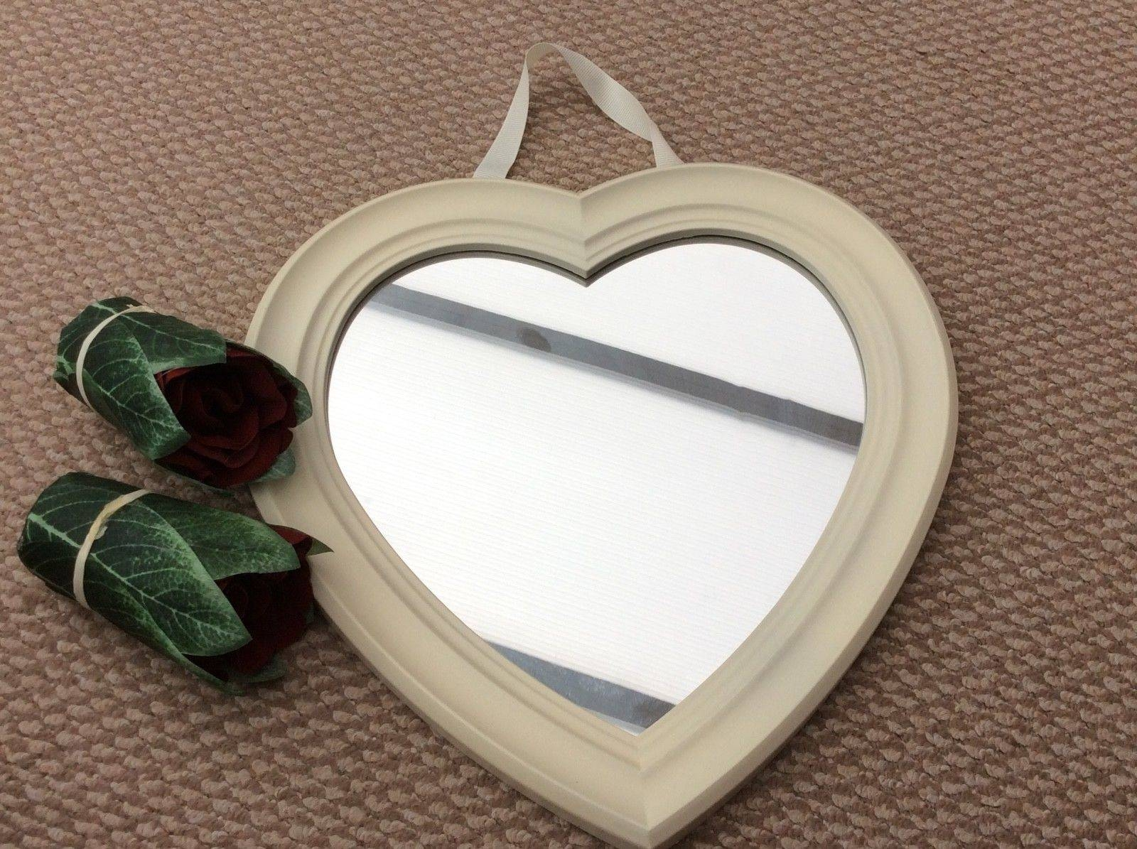 Mirror : White Distressed Shab Chic Mirror Maple Lawn Best Home inside Distressed Cream Mirrors (Image 11 of 15)