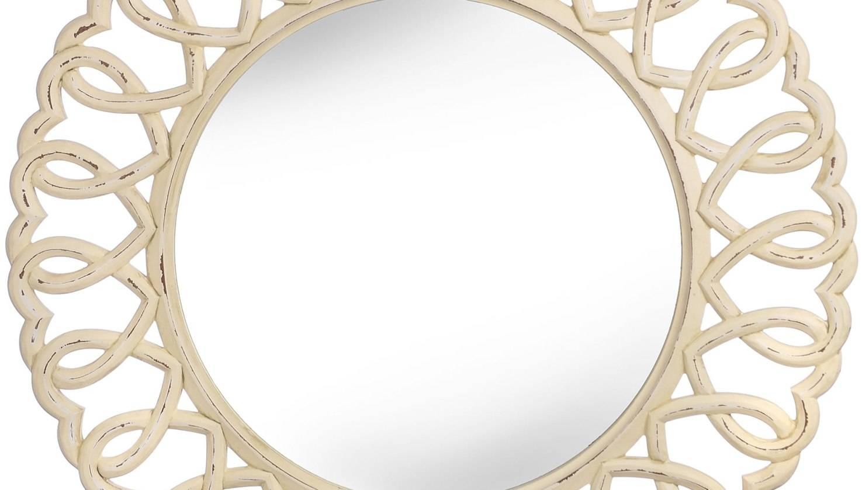 Mirror : White Distressed Shab Chic Mirror Maple Lawn Best Home Regarding Distressed Cream Mirrors (View 12 of 15)