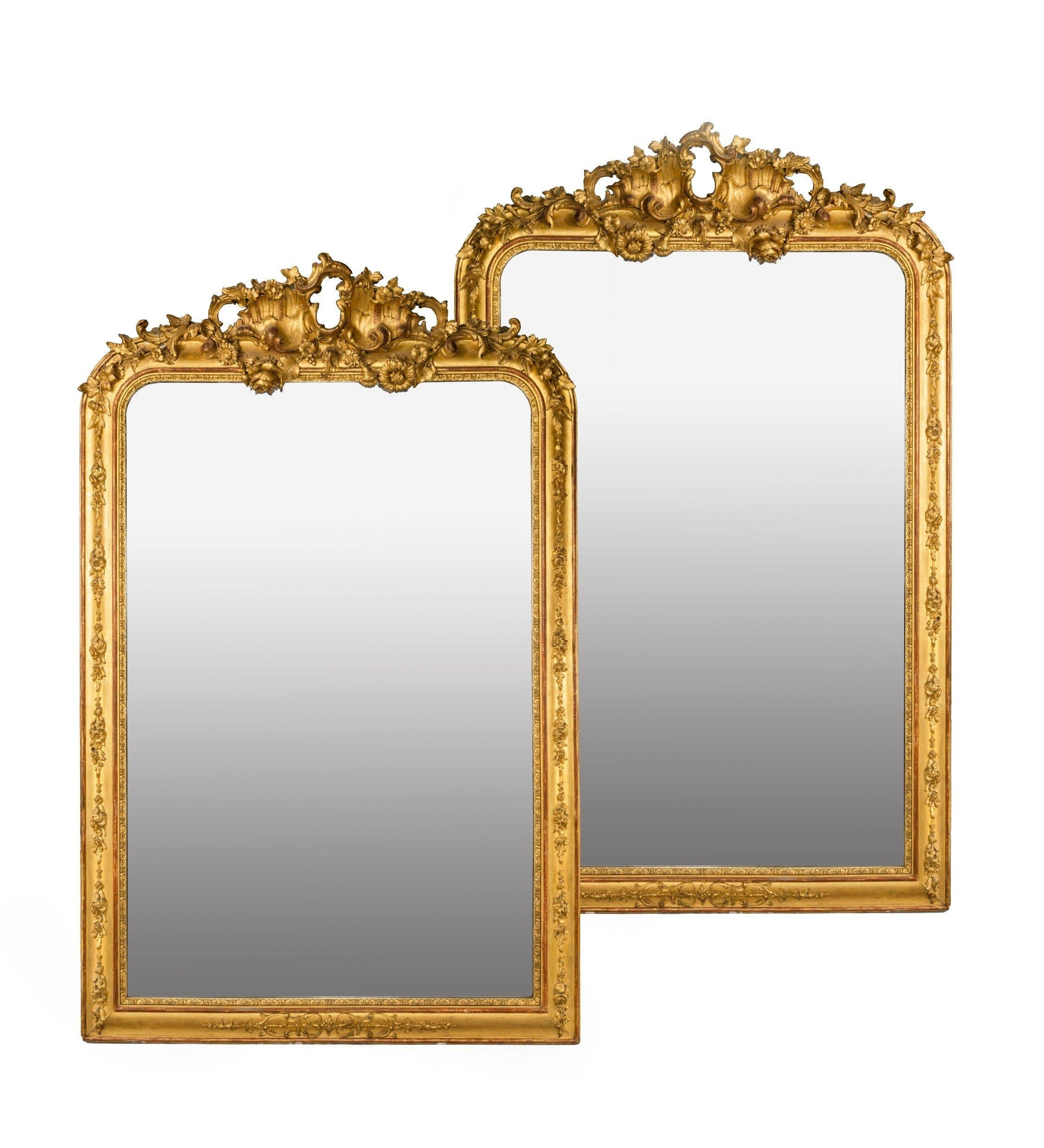 Mirrors-Gilt-George-Iii - The Uk's Premier Antiques Portal with regard to Gold Gilt Mirrors (Image 14 of 15)