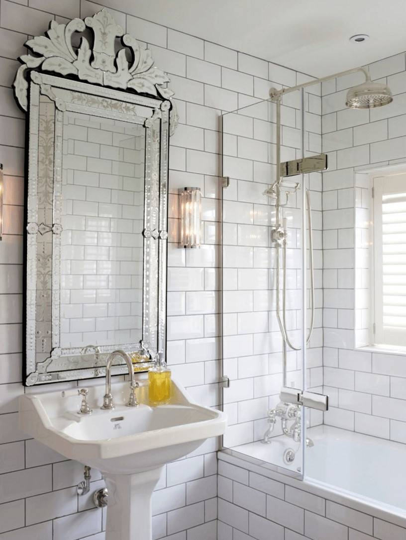 Mirrors: Interesting Wall Mirror Without Frame Frameless Bathroom regarding Wall Mirrors Without Frame (Image 11 of 15)
