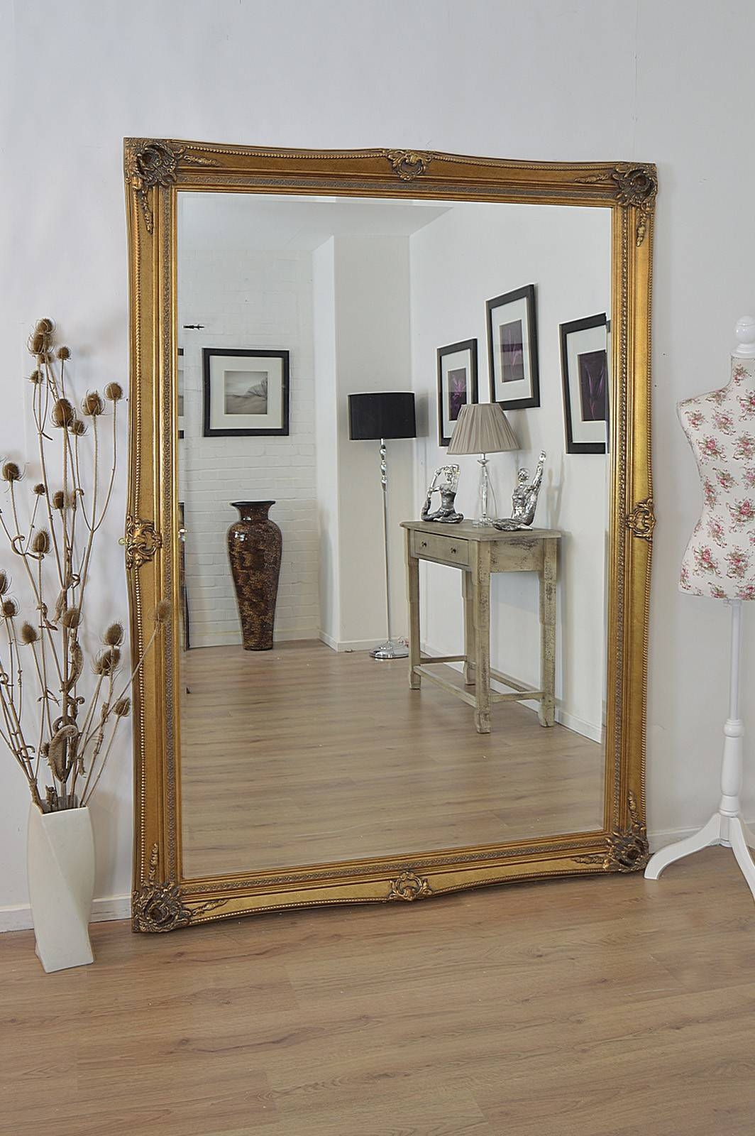 Mirrors: Marvellous Large Gold Framed Mirror Antique Gold Mirrors for Large Gold Antique Mirrors (Image 13 of 15)