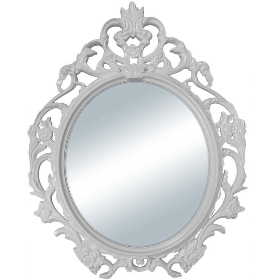 Mirrors - Walmart within Antique White Oval Mirrors (Image 12 of 15)
