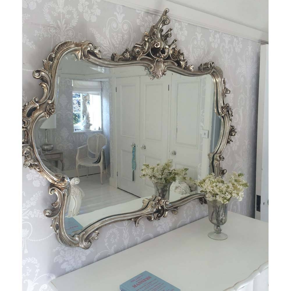 Miss Lala's Silver Looking Glass | Luxury Mirror pertaining to Silver Ornate Mirrors (Image 13 of 15)