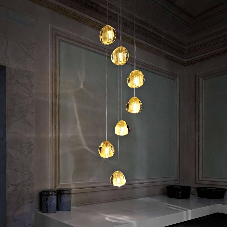 Mizu 7 Light Pendant Lightterzani | Ylighting with Mizu Lighting (Image 2 of 15)