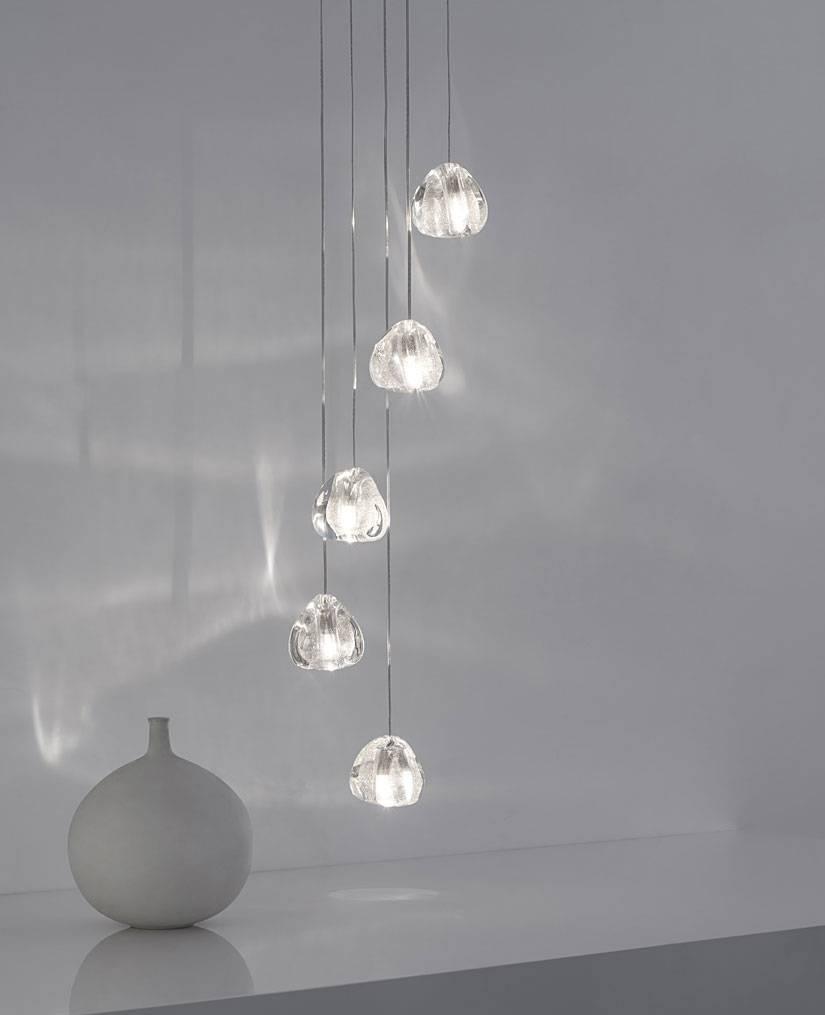 Mizu Five Pendant Lightterzani | Interior-Deluxe throughout Mizu Lighting (Image 3 of 15)