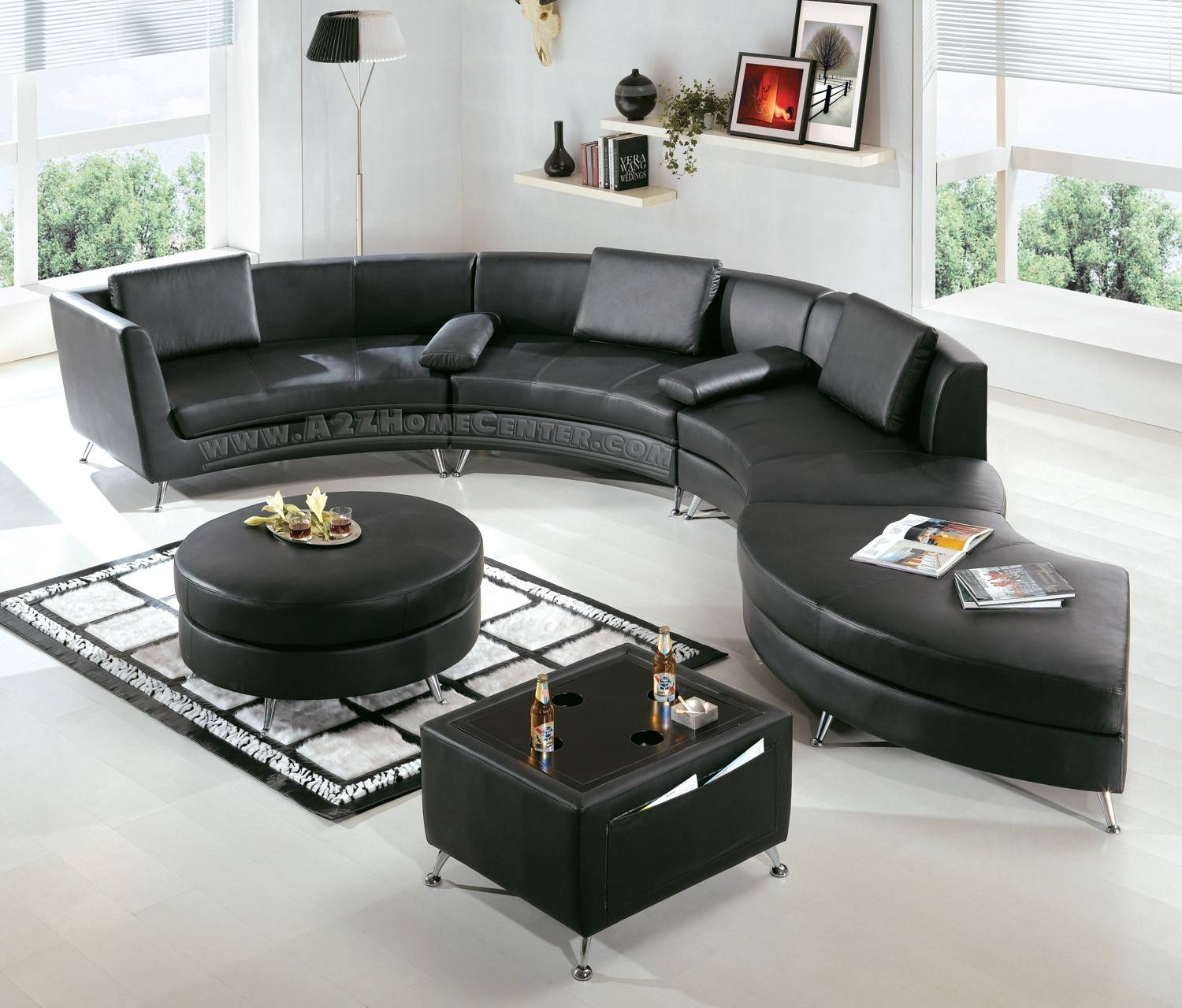 Modern Black Leather Sectional Sofa: Beautiful Pictures, Photos Of pertaining to Black Modern Couches (Image 12 of 15)