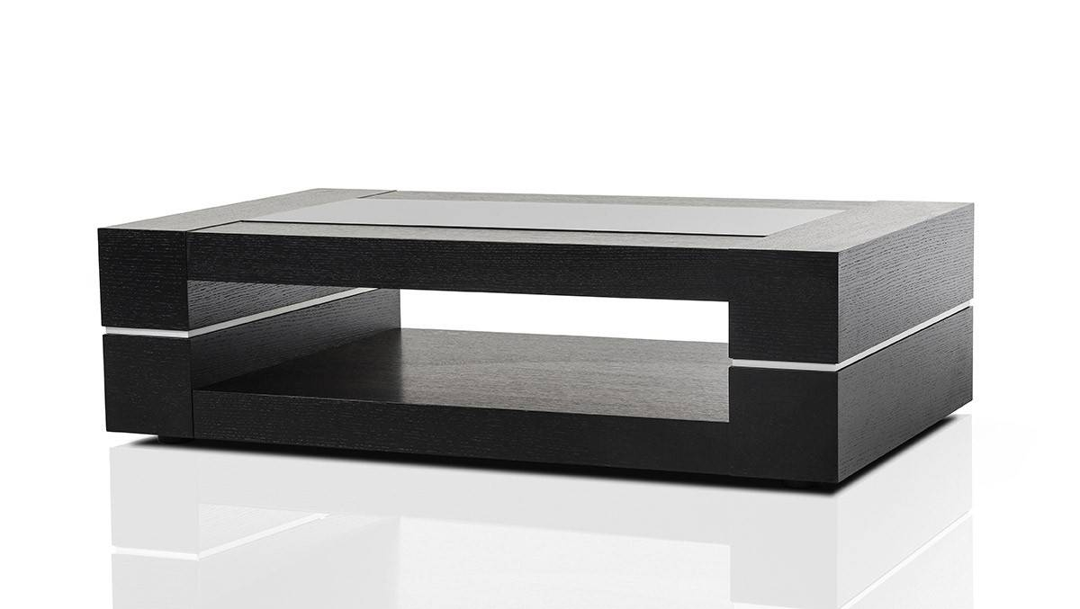 Modern Black Oak Coffee Table With Modern Coffee Table (View 3 of 15)