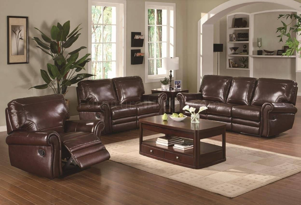 Modern Burgundy Leather Reclining Sofa U0026amp; Loveseat Set For Burgundy Leather  Sofa Sets (Image Part 69