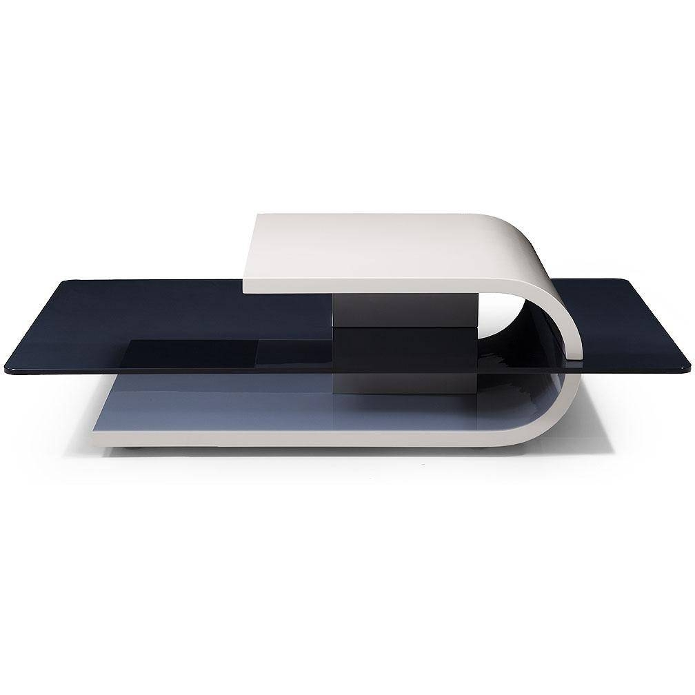 Modern Coffee Table: Marvelous Modern White Coffee Tables Sets pertaining to Modern Black Glass Coffee Table (Image 12 of 15)