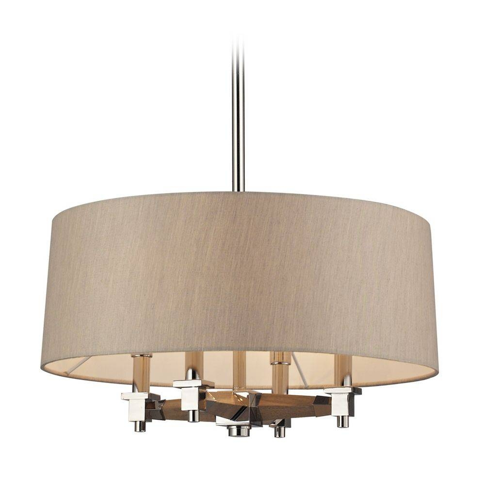 Modern Drum Pendant Lights In Polished Nickel Finish | 31335/4 throughout Drum Pendant Lighting (Image 13 of 15)