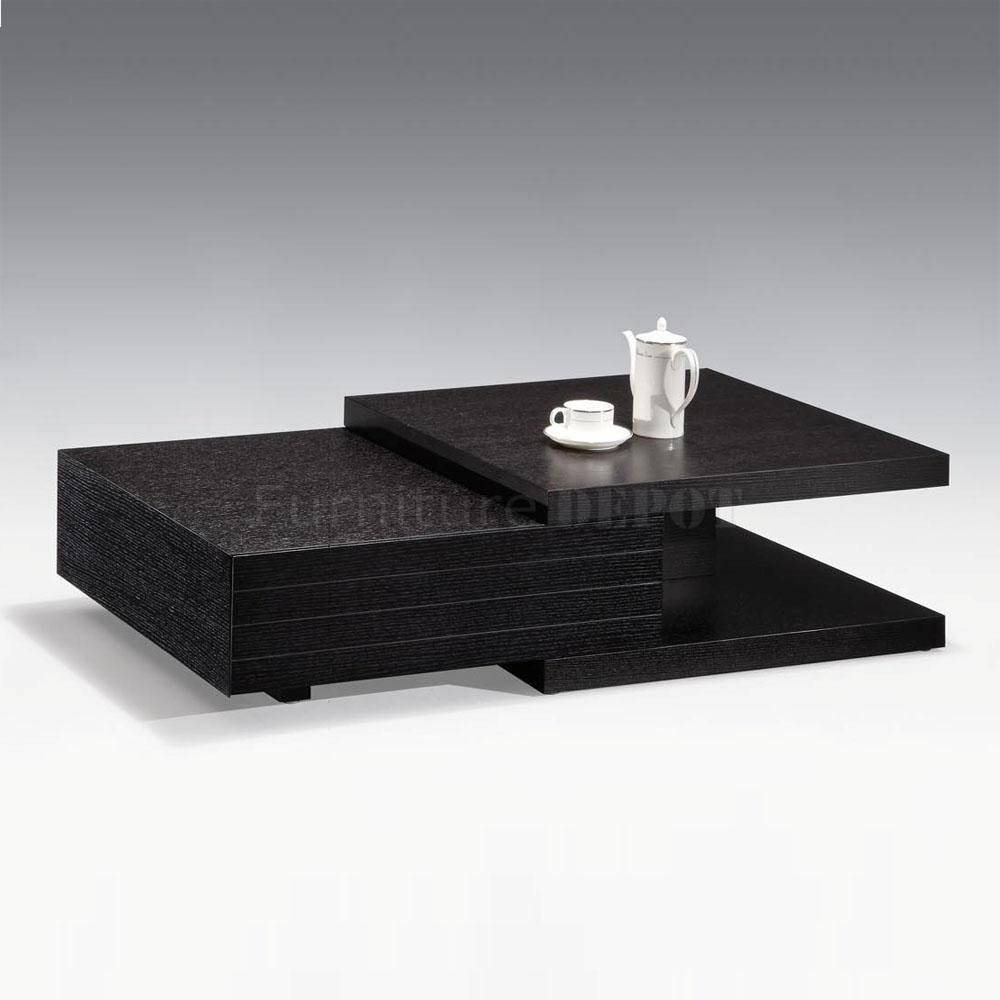 Modern Glass Coffee Table - Chic And Modern Black Coffee Table throughout Modern Black Glass Coffee Table (Image 13 of 15)
