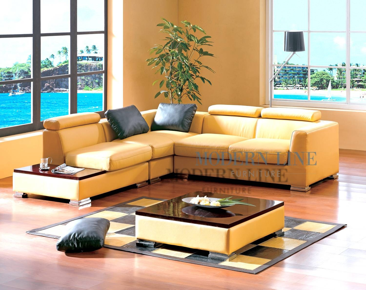 Modern Line Furniture – Commercial Furniture – Custom Made Regarding Yellow Sectional Sofas (View 3 of 15)