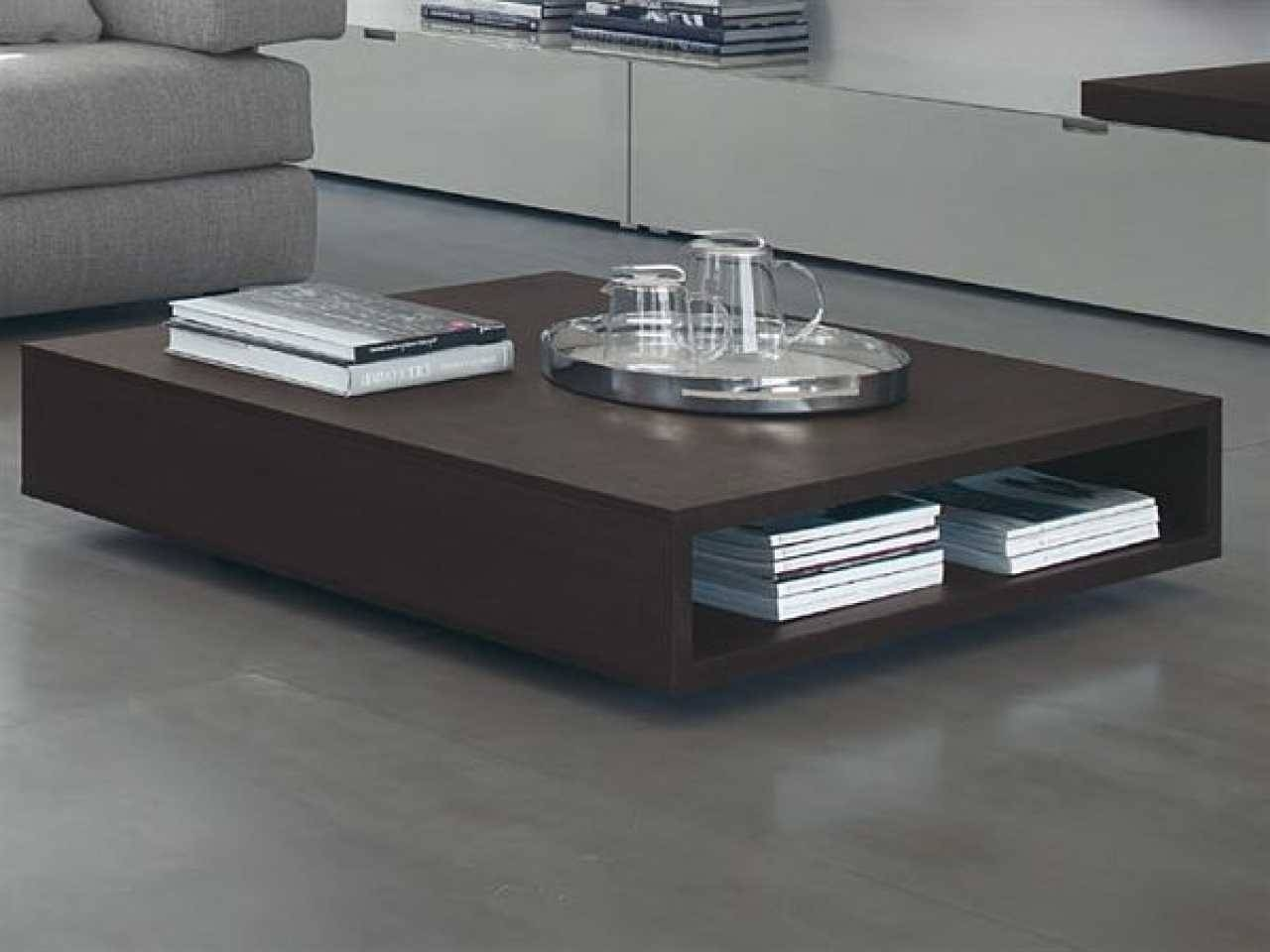 Modern Low Coffee Table, Low Coffee Tables For Modern And for Low Coffee Table With Storage (Image 14 of 15)