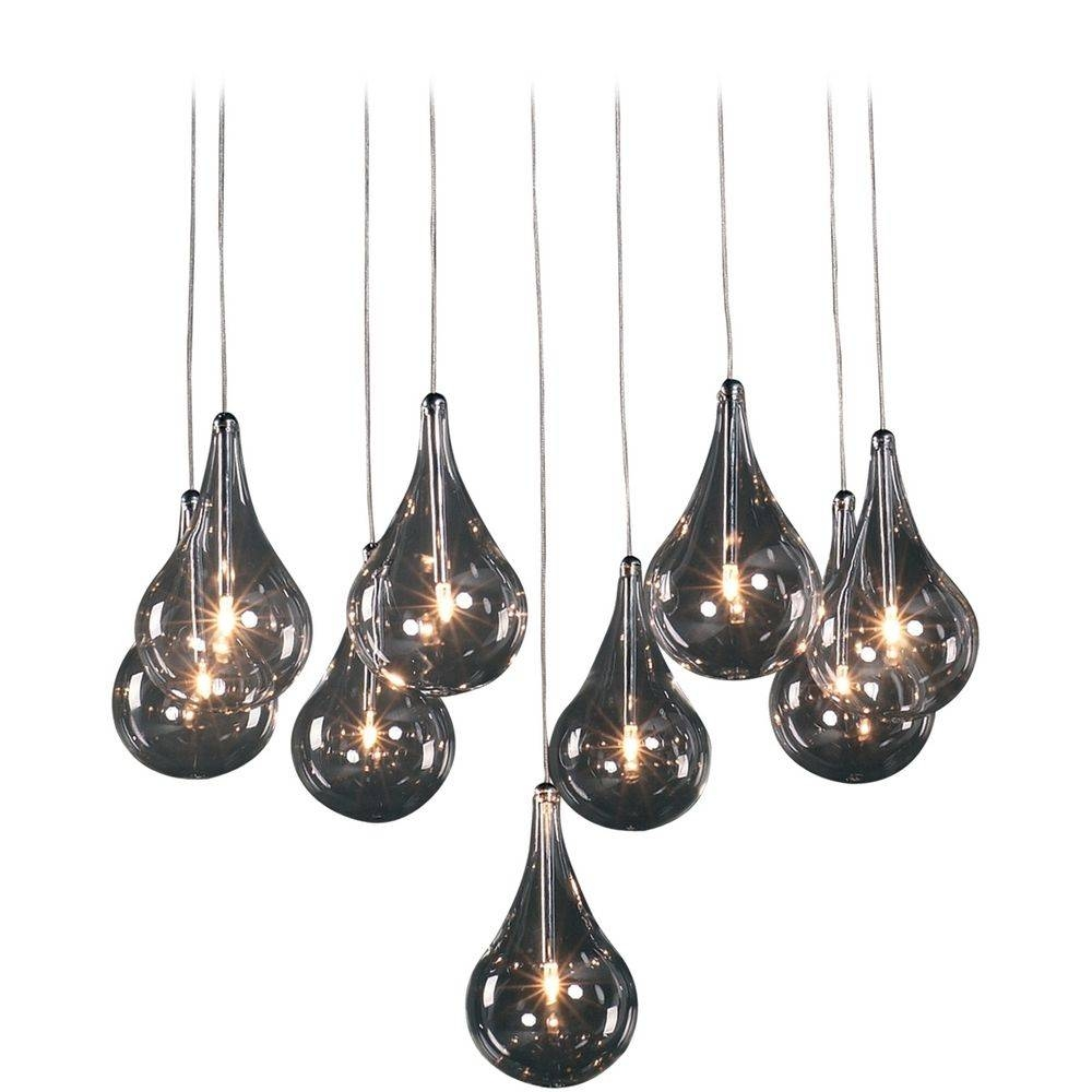 Modern Low Voltage Multi-Light Pendant Light With Clear Glass And intended for Teardrop Pendant Lights Fixtures (Image 7 of 15)