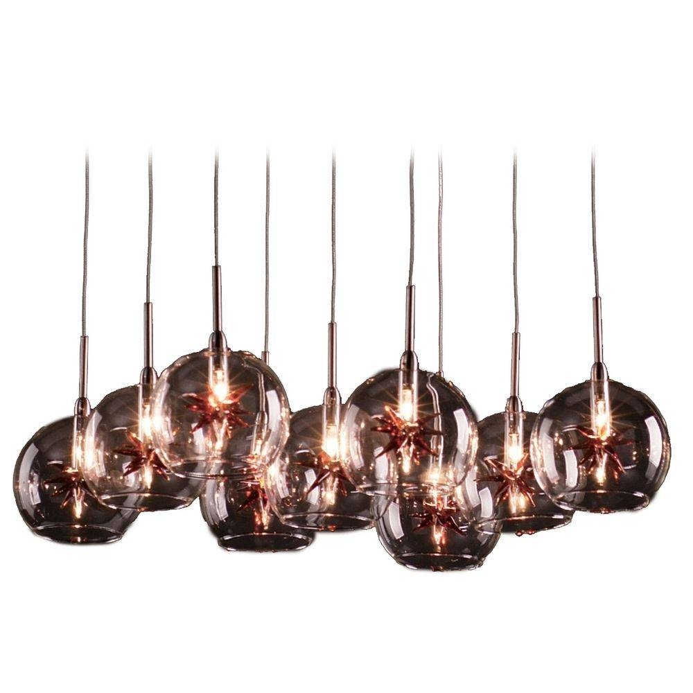Modern Low Voltage Multi-Light Pendant Light With Clear Glass And within Diy Multi Pendant Lights (Image 11 of 15)