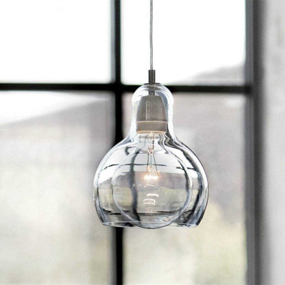 Modern Mega Bulb Pendant Light Fixtures Glass Pendant Lamp Ceiling intended for Mega Bulb Pendant Lights (Image 14 of 15)