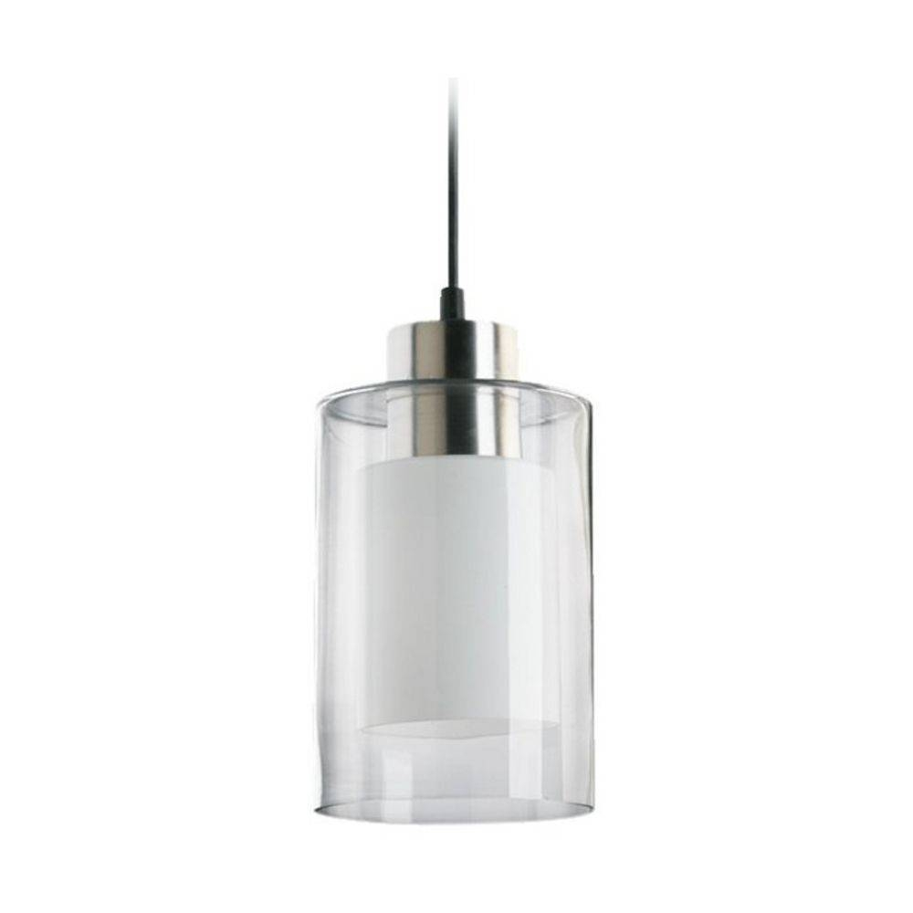 Modern Mini-Pendant Light With Double Cylinder Glass Shades | 882 with regard to Clear Glass Shades for Pendant Lights (Image 9 of 15)