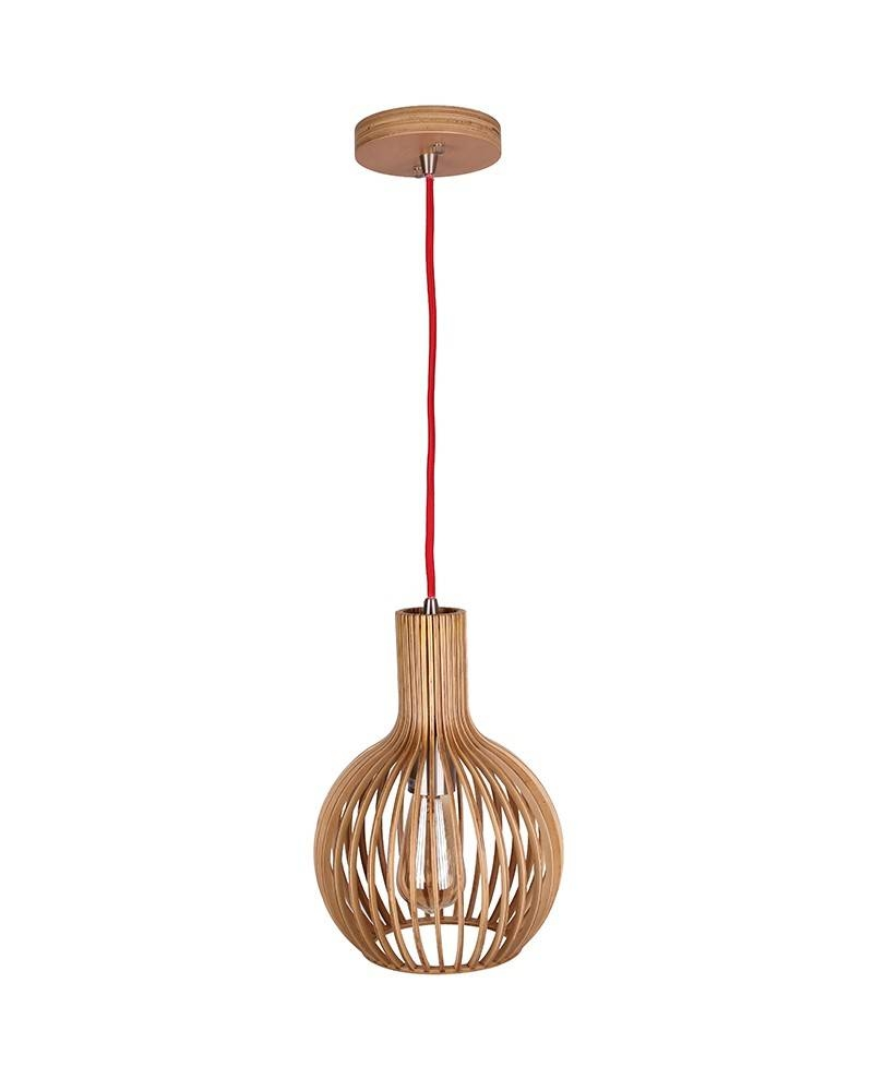 Modern Natural Bentwood Lantern Shape Pendant Light - Parrotuncle for Bentwood Lighting (Image 9 of 15)