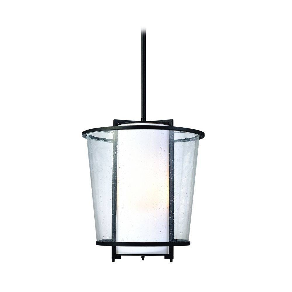 Modern Outdoor Hanging Light With White Glass In Forged Bronze regarding Contemporary Pendant Lights Australia (Image 12 of 15)