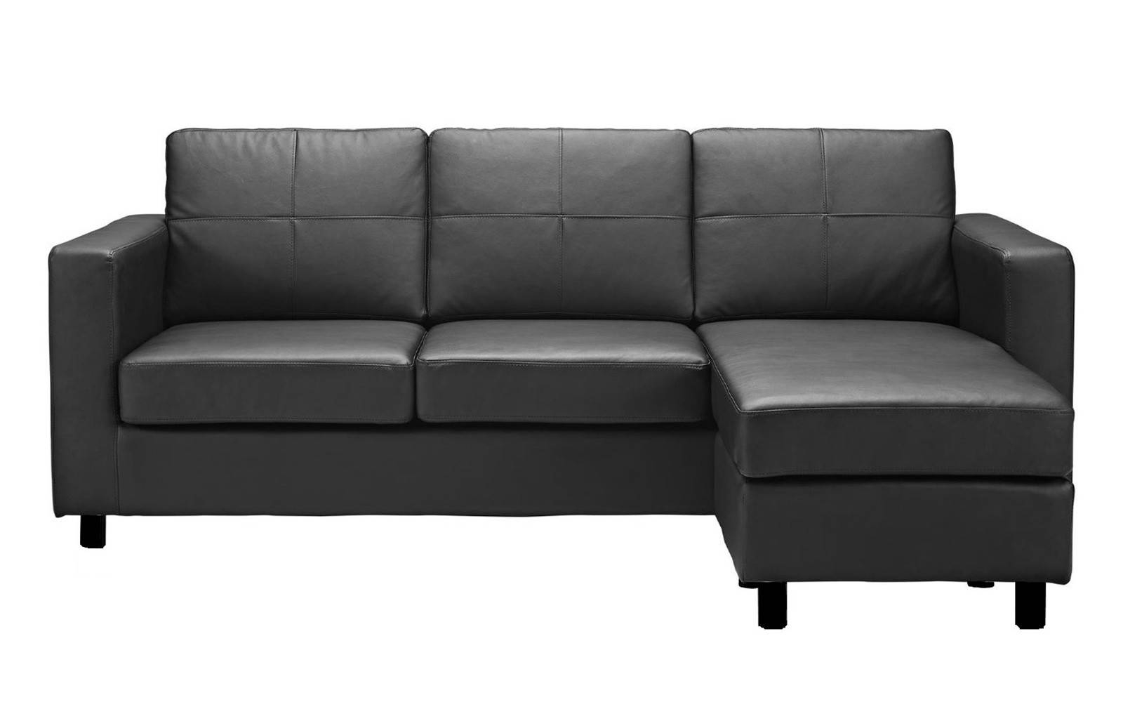 Modern Reversible Small Space Configurable Bonded Leather With Small Spaces Configurable Sectional Sofas (View 9 of 15)