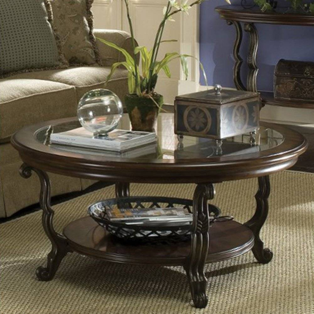 Modern Round Coffee Table Glass Top : Bright Look Modern Round In Round Wood And Glass Coffee Tables (View 5 of 15)