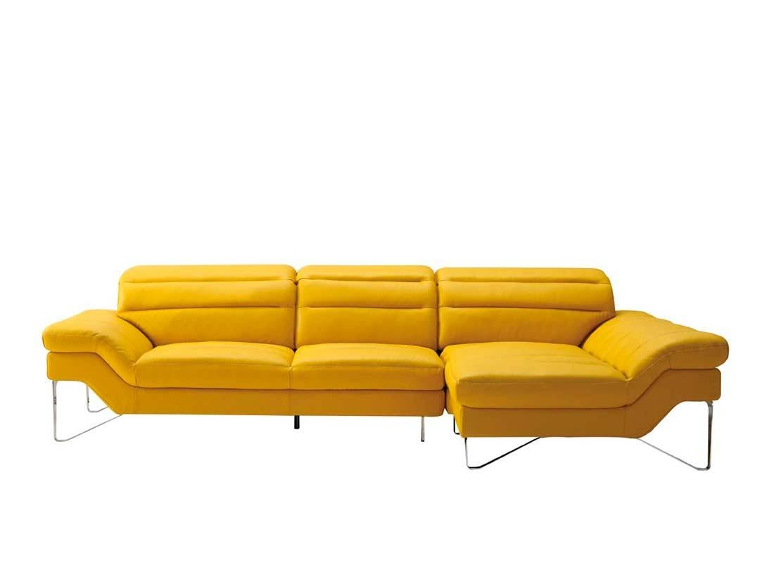 Modern Yellow Sectional Sofa Vg 4 | Leather Sectionals Inside Yellow Sectional Sofas (View 9 of 15)