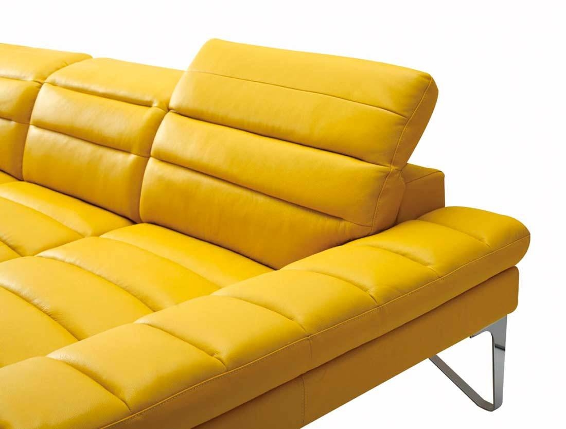 Modern Yellow Sectional Sofa Vg 4 | Leather Sectionals Pertaining To Yellow Sectional Sofas (View 13 of 15)