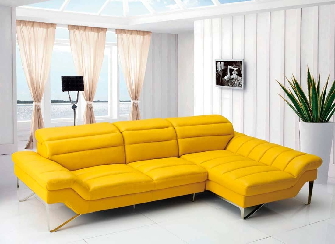 Modern Yellow Sectional Sofa Vg 4 | Leather Sectionals With Yellow Sectional Sofas (View 5 of 15)