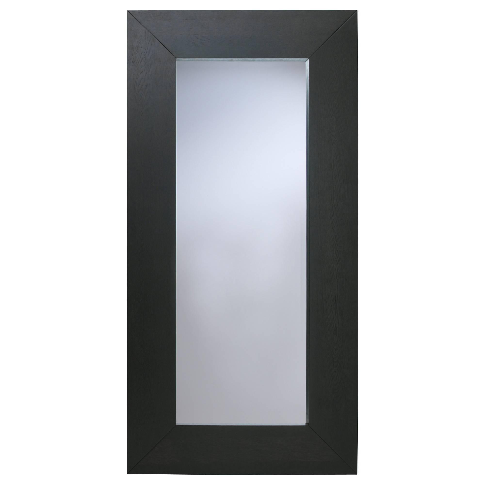 Mongstad Mirror Black-Brown 94X190 Cm - Ikea regarding Black Mirrors (Image 8 of 15)