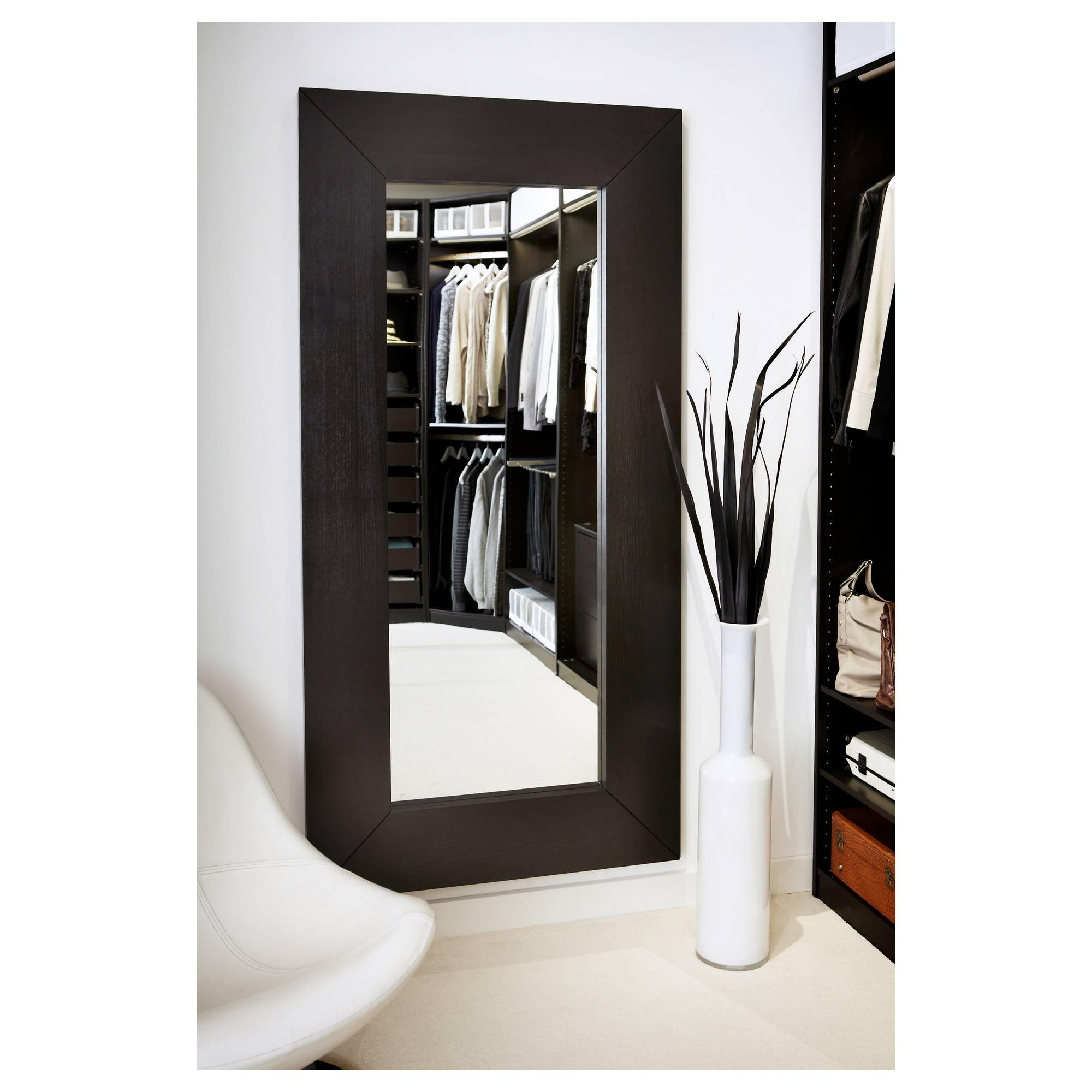 Mongstad Mirror Black Brown 94X190 Cm – Ikea Within Black Mirrors (View 9 of 15)