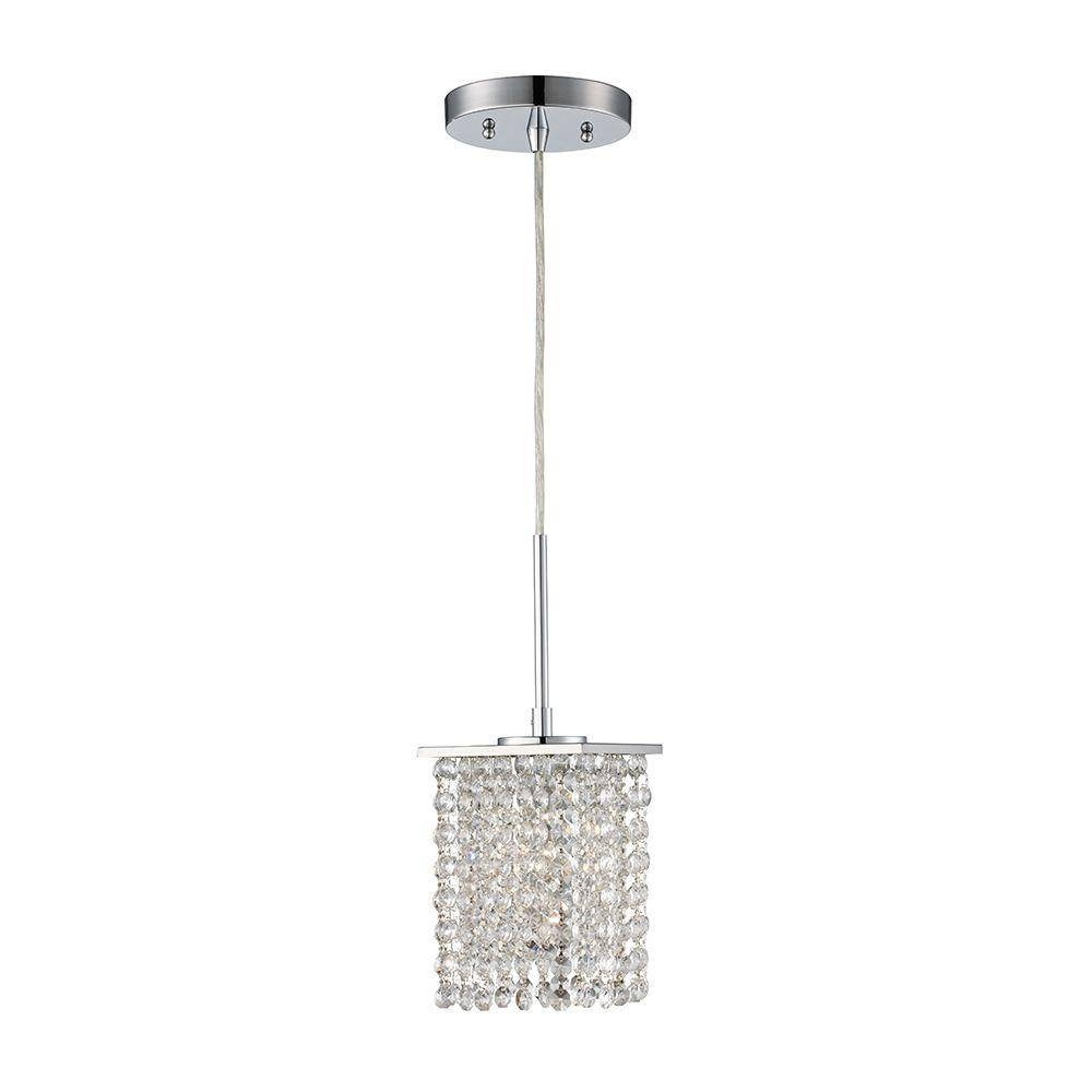 Monteaux Lighting - Pendant Lights - Hanging Lights - The Home Depot with Crystal Pendant Lights (Image 15 of 15)