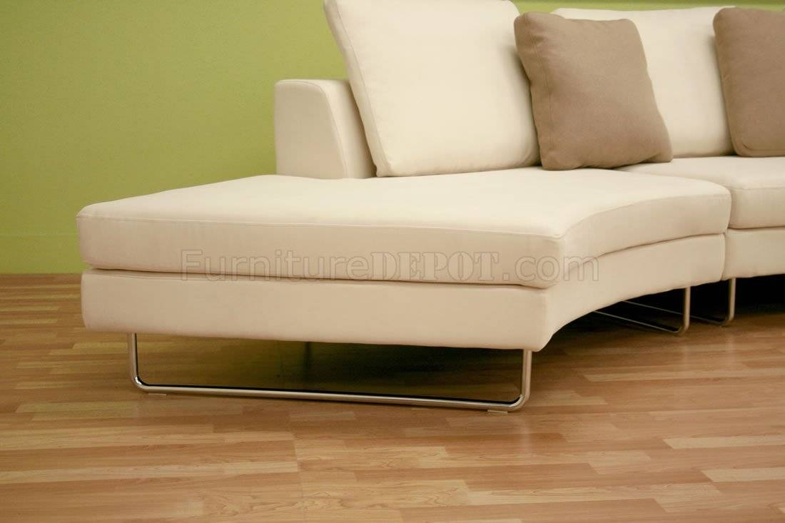 Moon Shape Microfiber Sectional Sofa & Coffee Table Set In Half Moon Sectional Sofas (View 10 of 15)