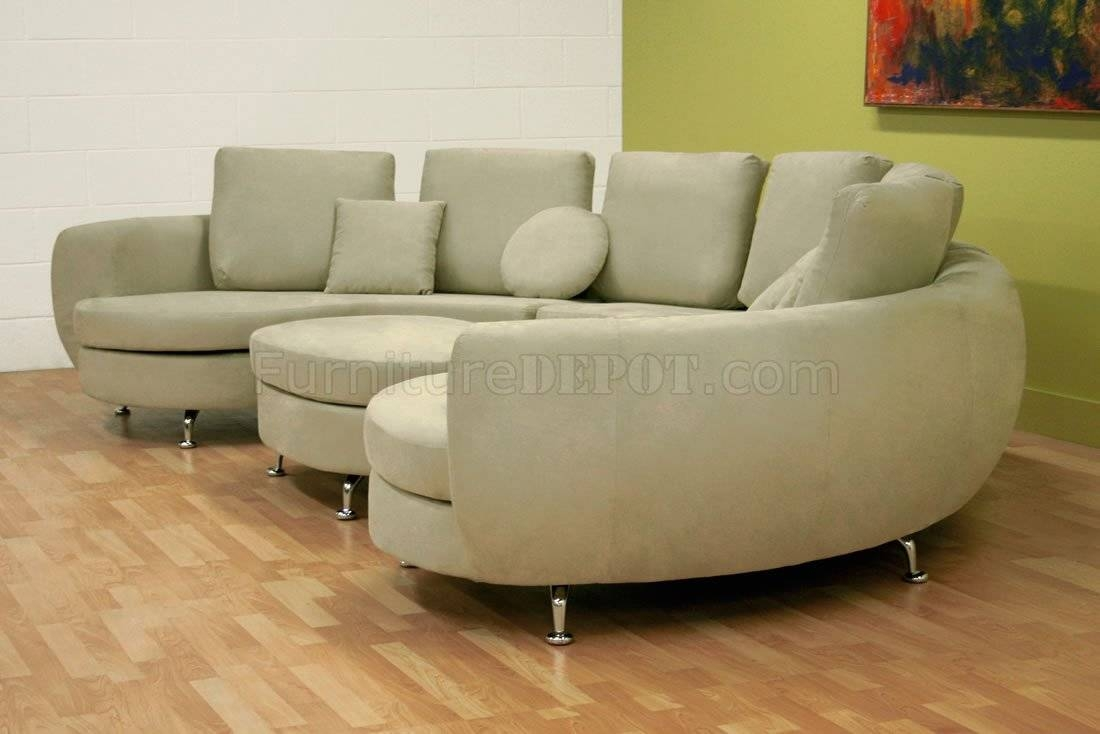 Moon Shape Modern Sectional Sofa With Ottoman Inside Half Moon Sectional Sofas (View 12 of 15)