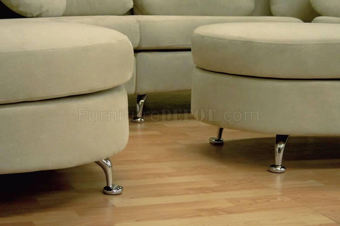 Moon Shape Modern Sectional Sofa With Ottoman With Half Moon Sectional Sofas (View 13 of 15)