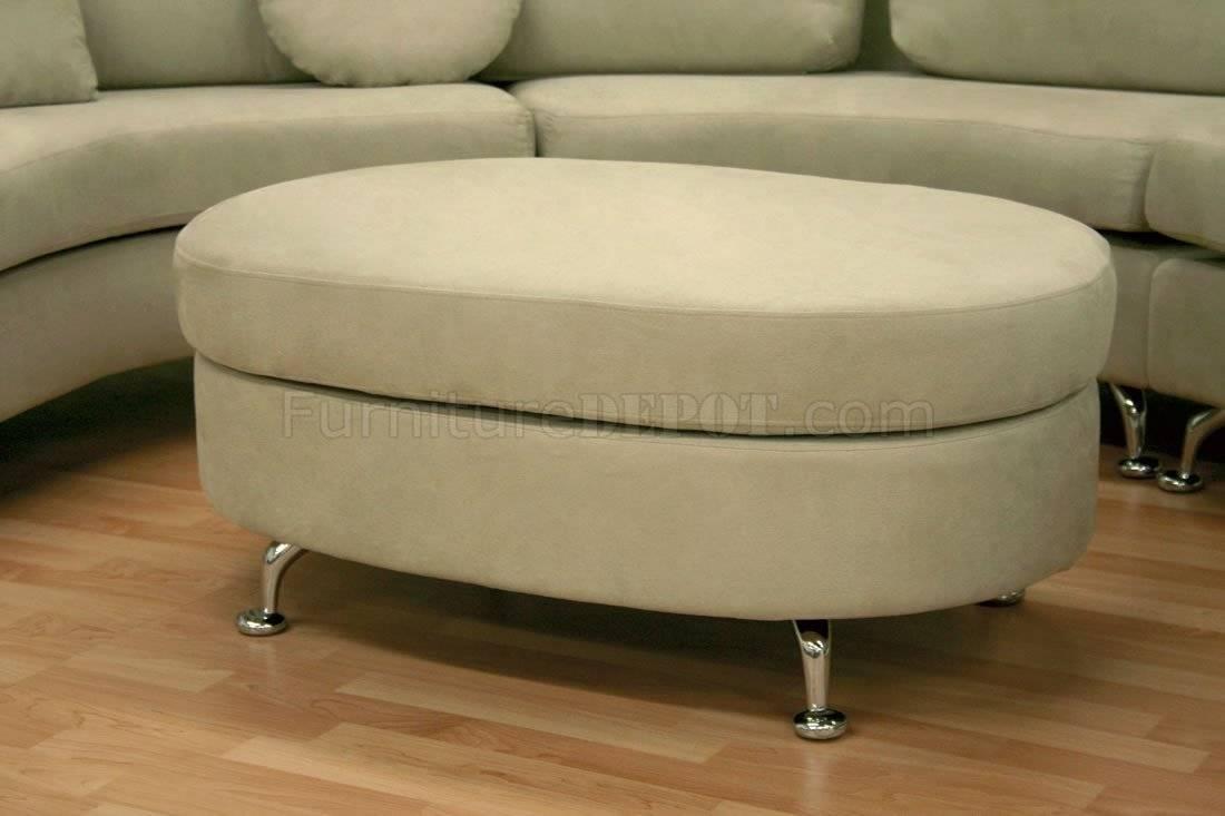Moon Shape Modern Sectional Sofa With Ottoman With Regard To Half Moon Sectional Sofas (View 14 of 15)