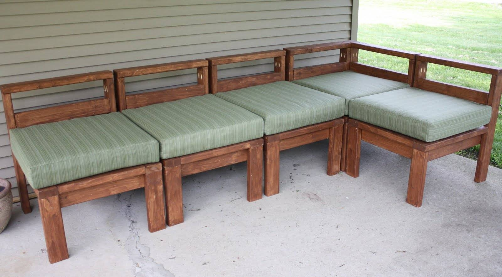 More Like Home: 2X4 Outdoor Sectional Intended For Building A Sectional Sofas (View 6 of 15)