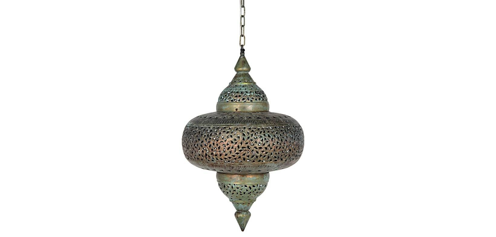 Moroccan Antique-Style Pendant – Brass Ceiling Light with Moroccan Style Pendant Ceiling Lights (Image 5 of 15)