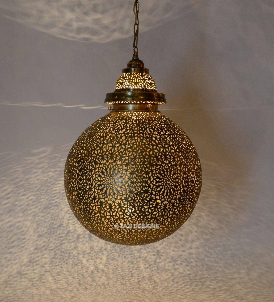 Moroccan Pendant Light Bulb Filigree with Moroccan Style Pendant Ceiling Lights (Image 9 of 15)