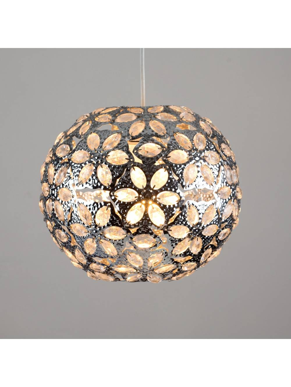 Moroccan Style Metal Ceiling Pendant Shade With Acrylic Jewel within Moroccan Style Pendant Ceiling Lights (Image 14 of 15)