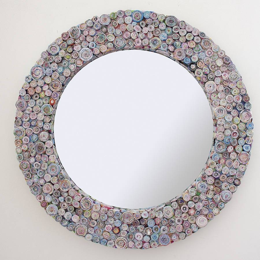 Multicoloured Recycled Round Mirrordecorative Mirrors Online pertaining to Round Mirrors (Image 6 of 15)